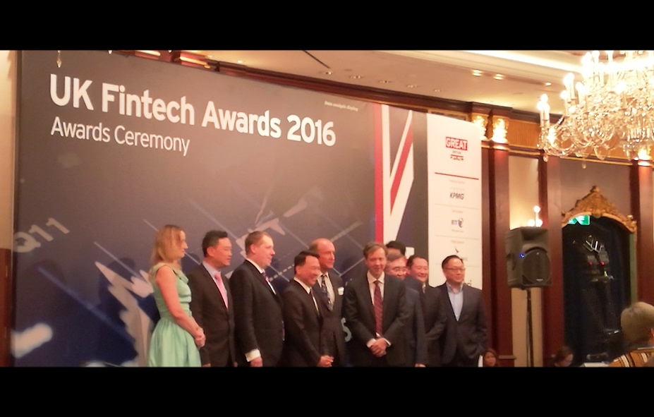 Dr. Toa Charm at UK Fintech Awards 2016 Ceremony