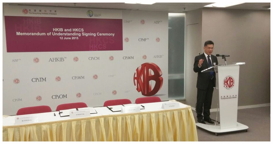 Mr. Michael Leung was delivering a welcome remarks
