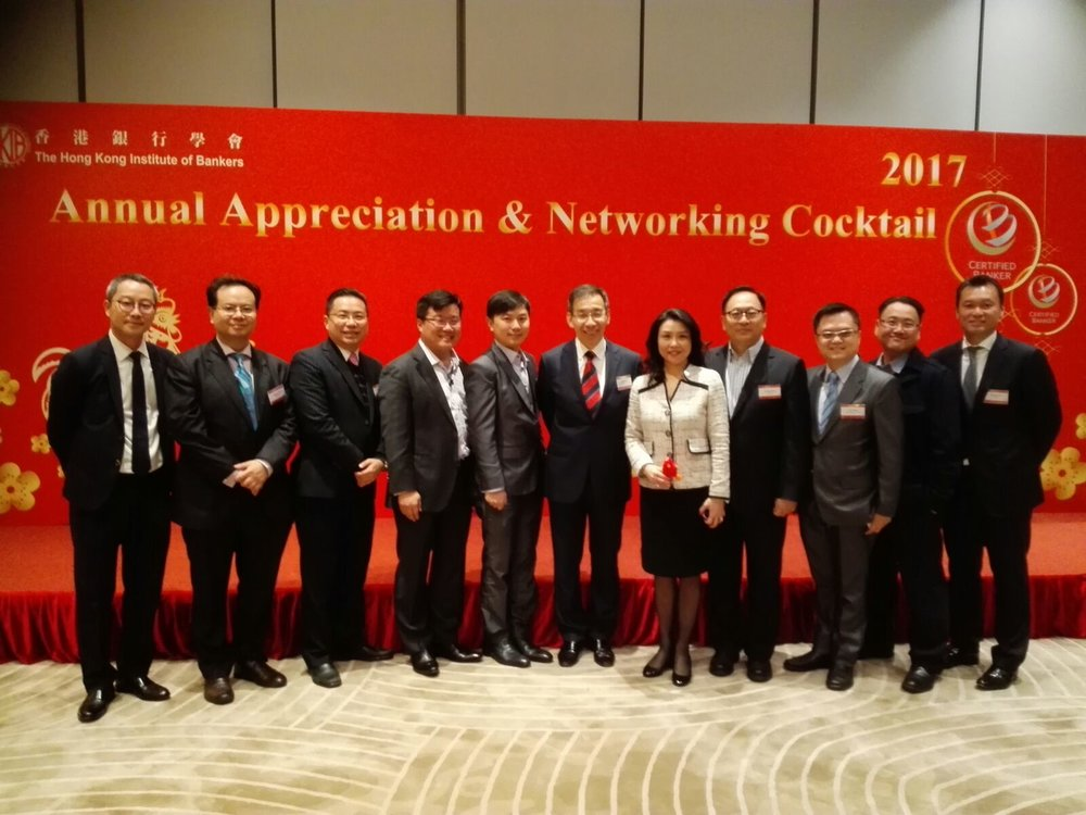 FinTech SIG Chairperson, Vice Chairperson & Committee Members with HKIB