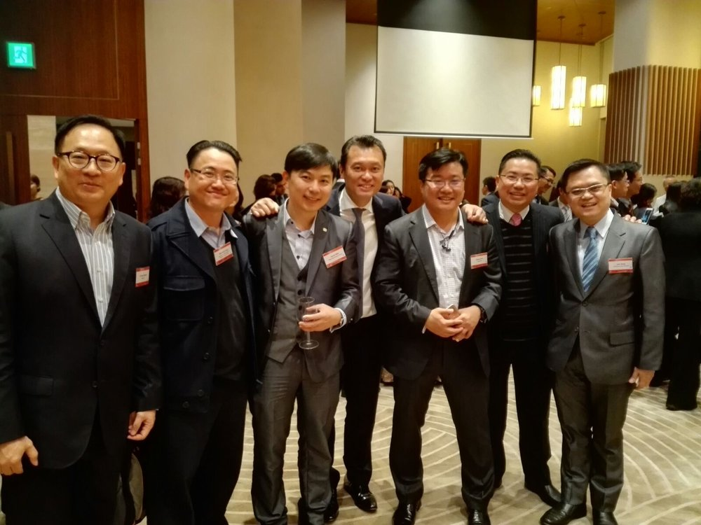 Dr. Toa Charm, Mr. Benedict Ang, Mr, Jacob Wai, Mr. Thomas Lee, Mr. Andy Chen, Dr. Sammy Ho, Mr. Leo Tong (Left to Right)
