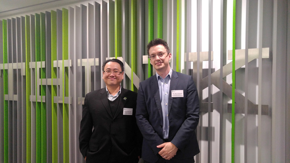Mr. Benedict Ang (Left) and Mr. Marc Entwistle (Right)