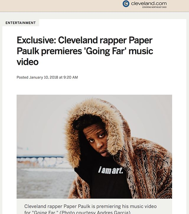 "Salute! @clevelanddotcom  For Premiering ""Going Far""  Feat. @staciap1  Prod. By @theheir  My Third Visual off ""Stay Committed""  It was a pleasure  chopping with yal 100!  To check out my new visual & article just hit the link in my bio #StayCommitted 💸💸💸 PaperPaulk.com"