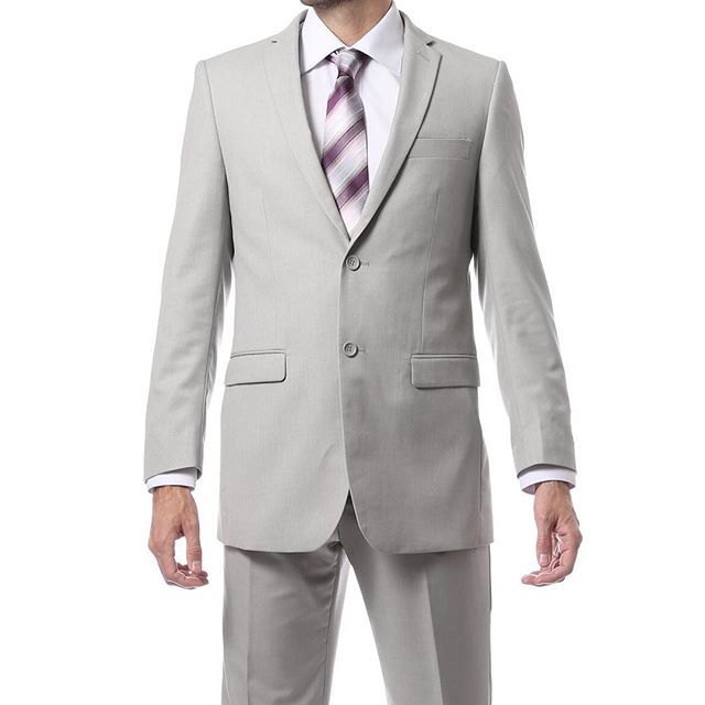 Light Grey Regular and Slim Fit Suit
