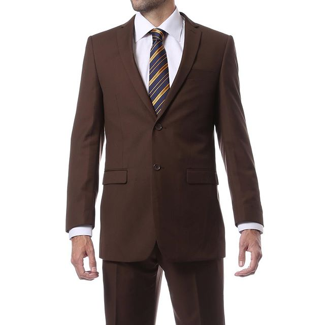 Chocolate Brown Regular and Slim Fit Suit