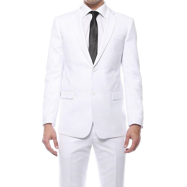 White Regular and Slim Fit Suit