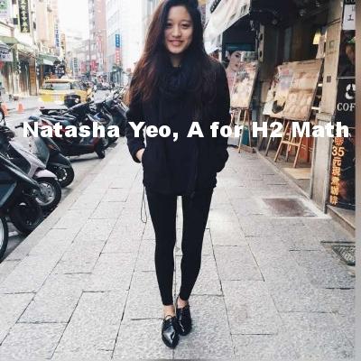 Natasha Yeo, A for H2 Math