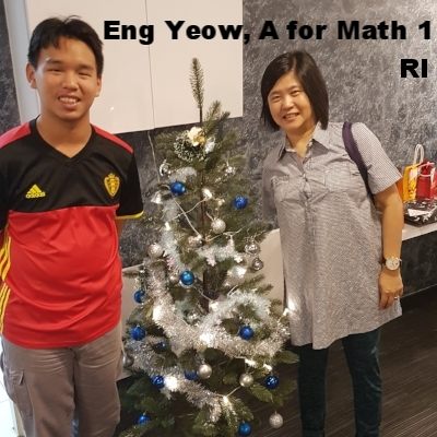 Eng Yeow, A for Math 1 RJC