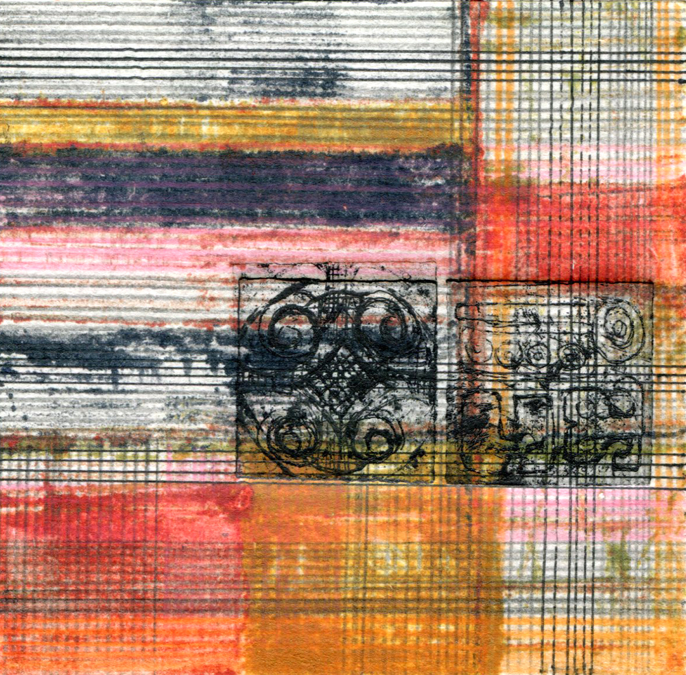 Vintage Fabric Square 8