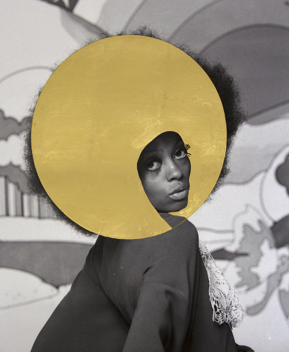 Platinum (Diana Ross), 2015, archival pigment print and 22k gold leaf, 20 x 16""