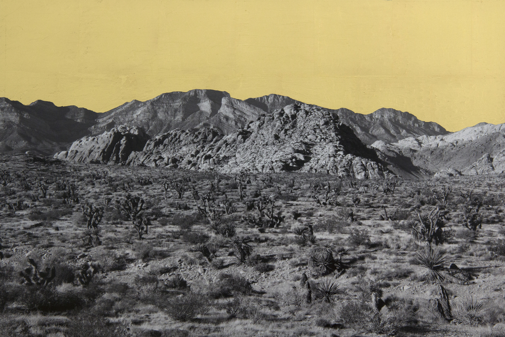 Red Rock, Red Rock Canyon, NV, 2013, digital pigment print with 22K gold leaf