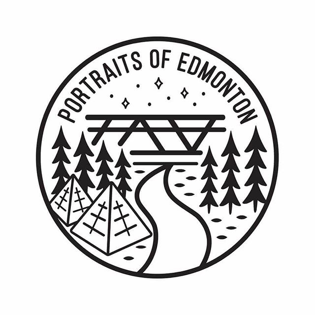 Our #mancrushmonday goes out to local designer @mitchiedagger who designed the #portraitsofedmonton logo. • • • #yeg #yegdt #yegart #design #graphicdesigner #graphicdesign #edmonton #edmontonart #edmontonarts #yegrivervalley #edmontonrivervalley