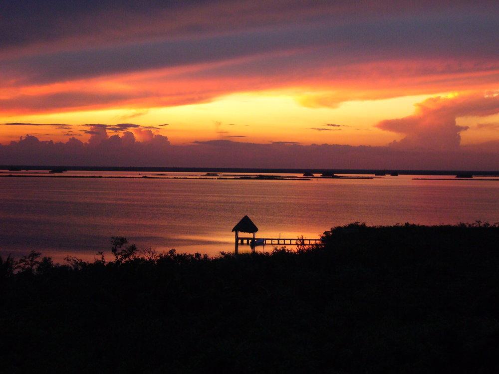 Caribbean Sunset Sian Ka'an Biosphere Mexico