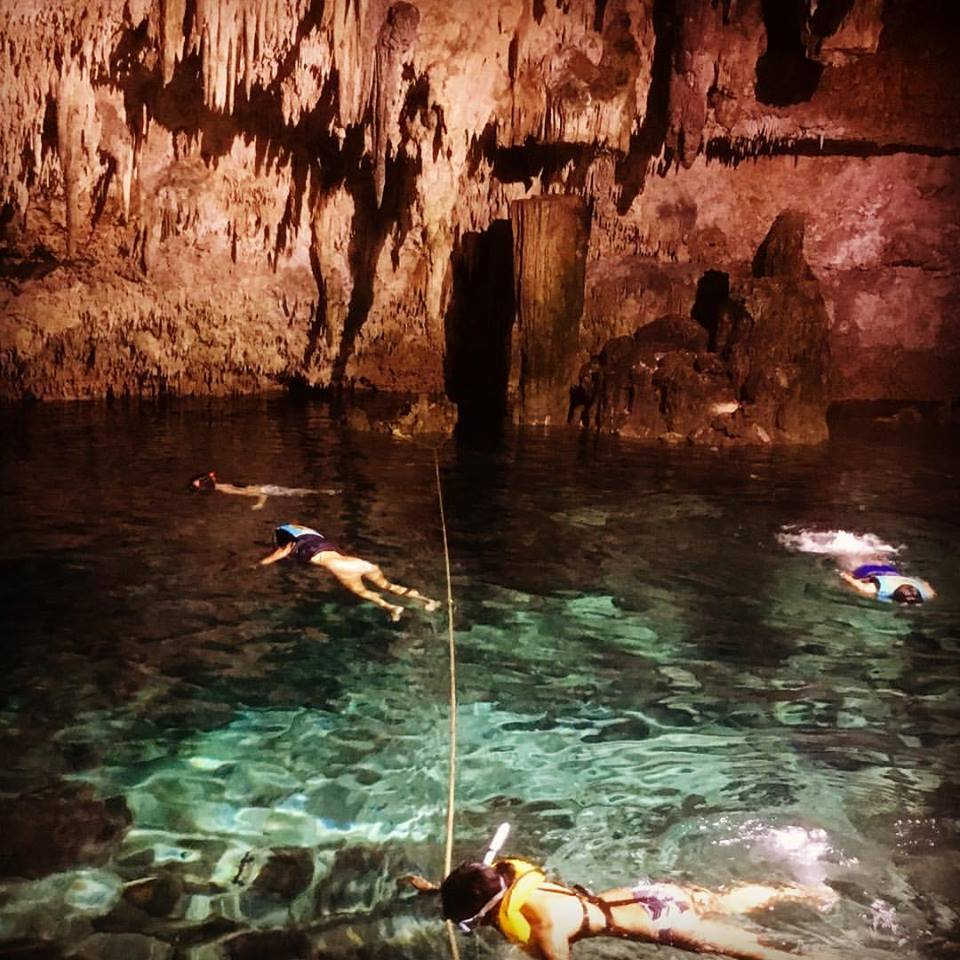 snorkeling in a closed cenote