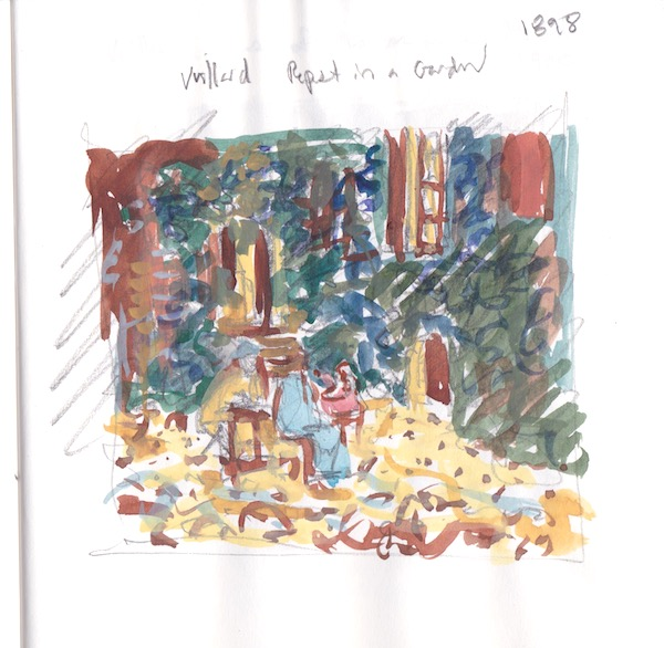 Museum sketch-after Vuillard