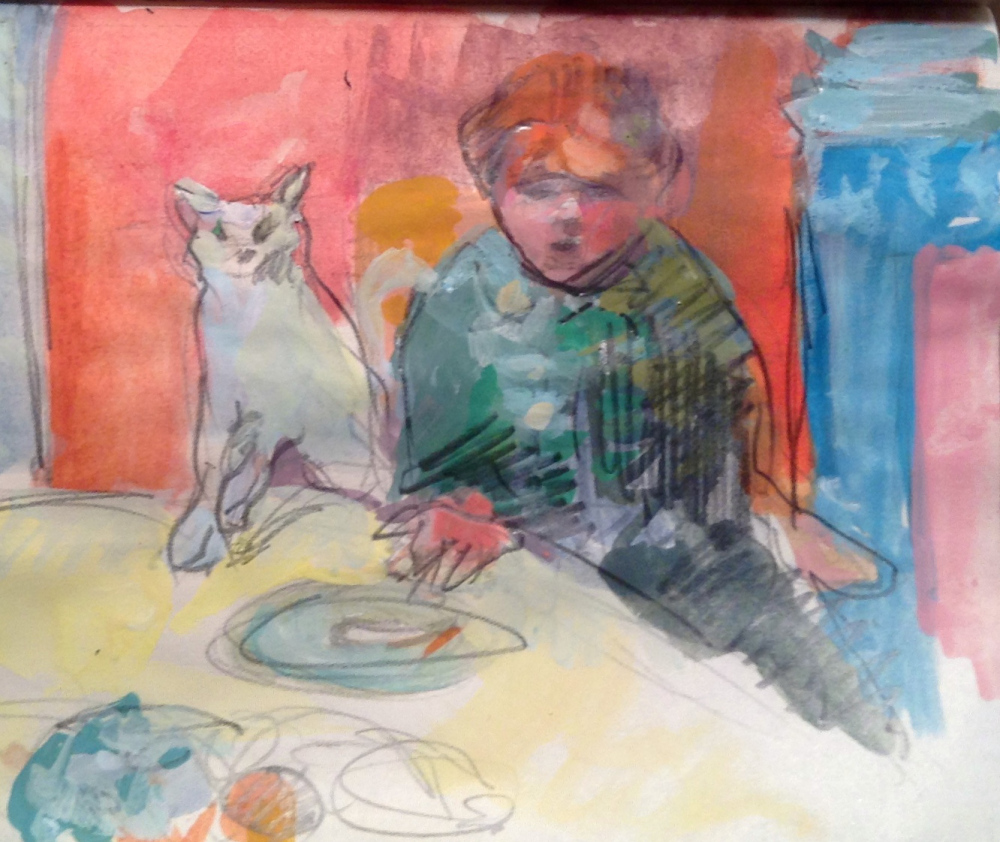 Museum sketch-after Bonnard