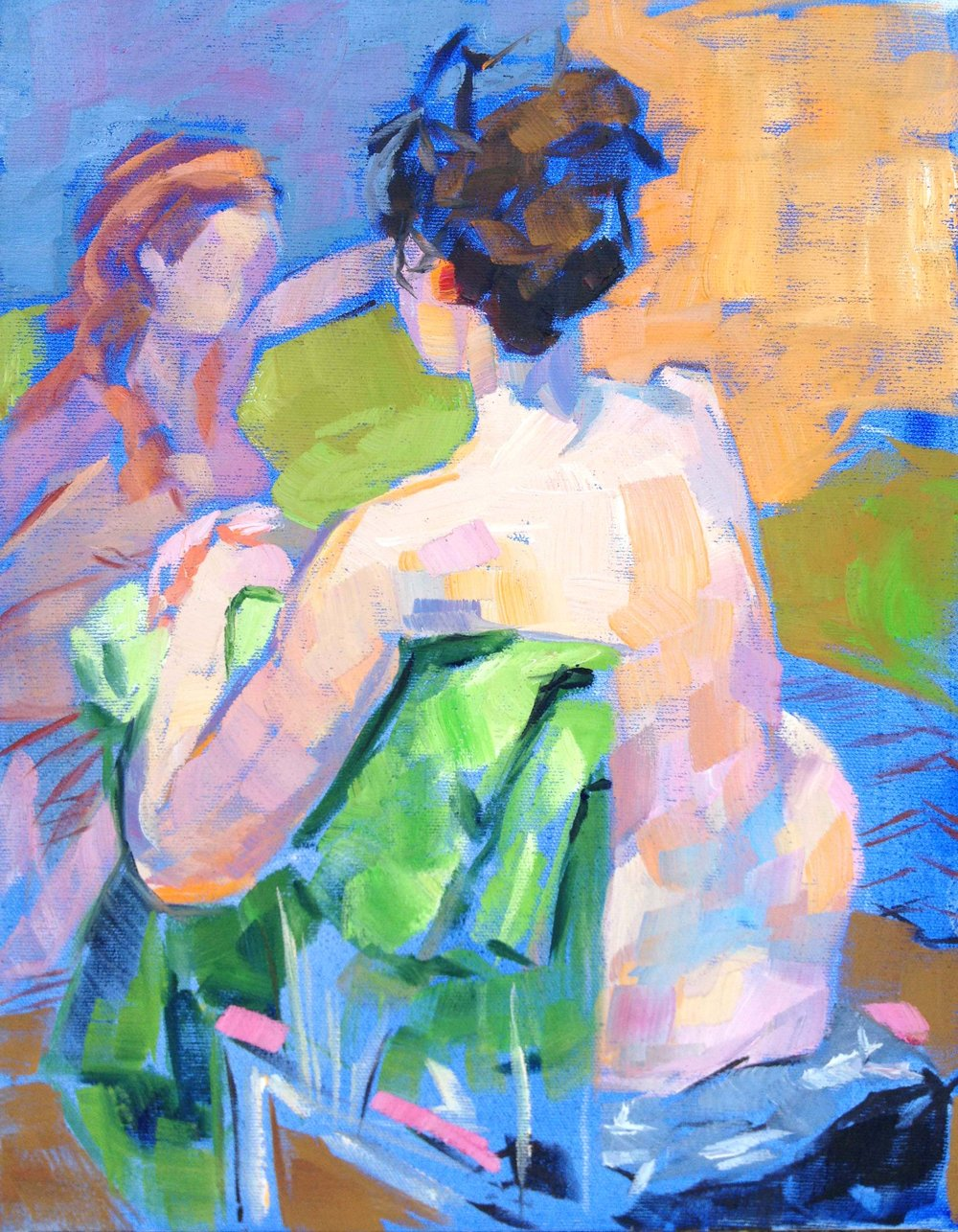 The figure painting that first caught Amy's eye in the window of Studio Hop - 11