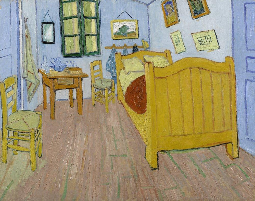 The Bedroom, VincentVan Gogh. October, 1888.  Van Gogh Museum .  One of Linda's all time favorites.