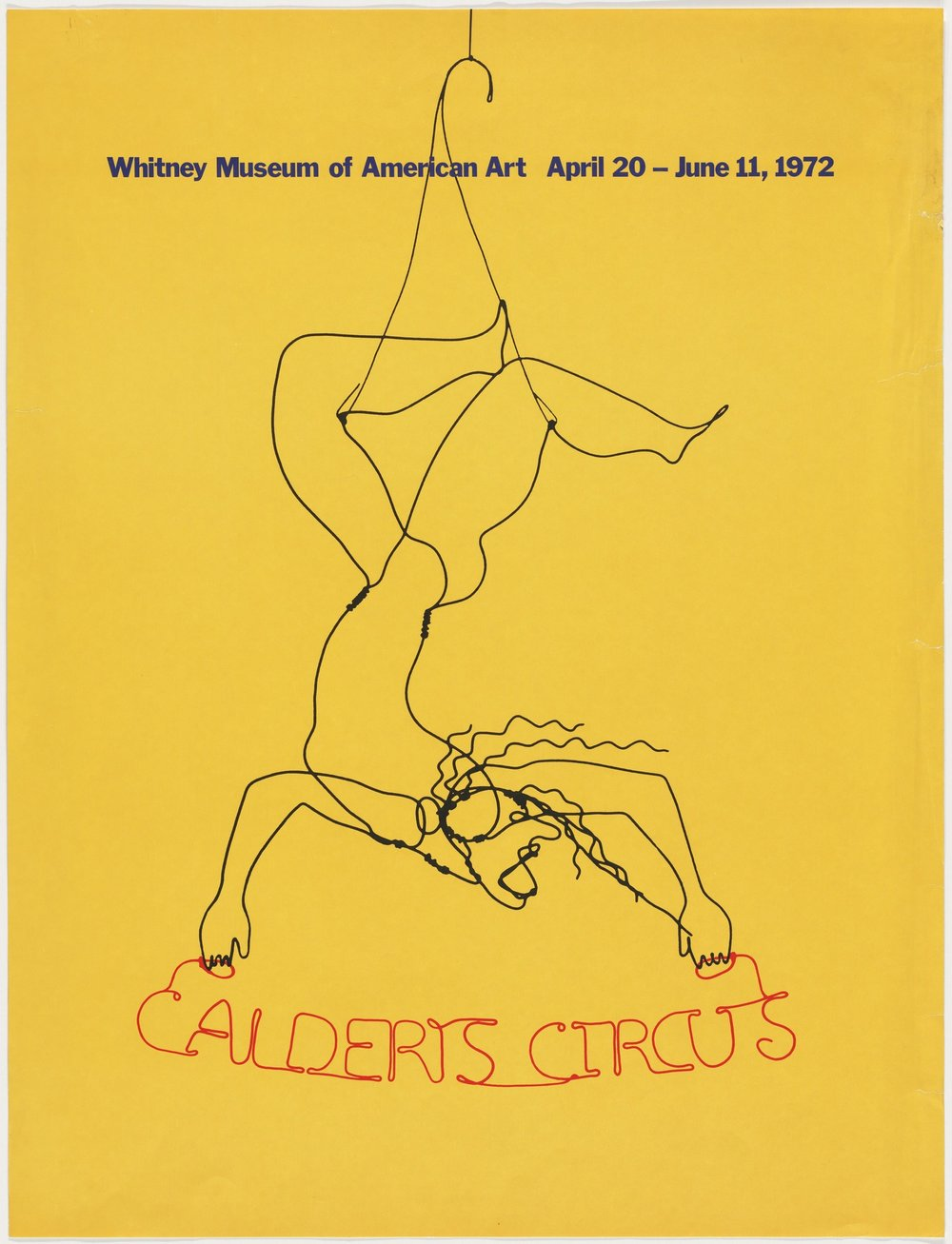 Linda Tiller:Calder is one of my favorites. I love his Circus at the Whitney and his giant mobiles at the East Wing of the National Gallery in Washington D.C. - A poster for Alexander Calder's Circus at the Whitney Museum of American Art.
