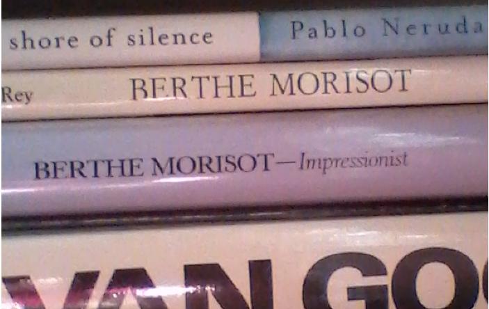 When Linda heard I was studying Berthe Morisot she sent this snapshot of her bookshelf.