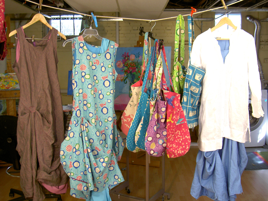 Found it! Clothes and also bags I made for students in Morocco. Thanks for the memories Linda.