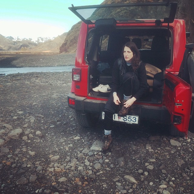 Booting up before hiking in Þórsmörk (and having a love affair with that rental car).