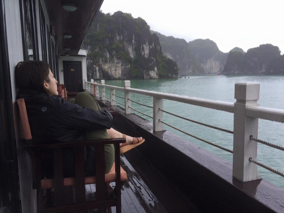 Morning on the Treasure Junk, Ha Long Bay.