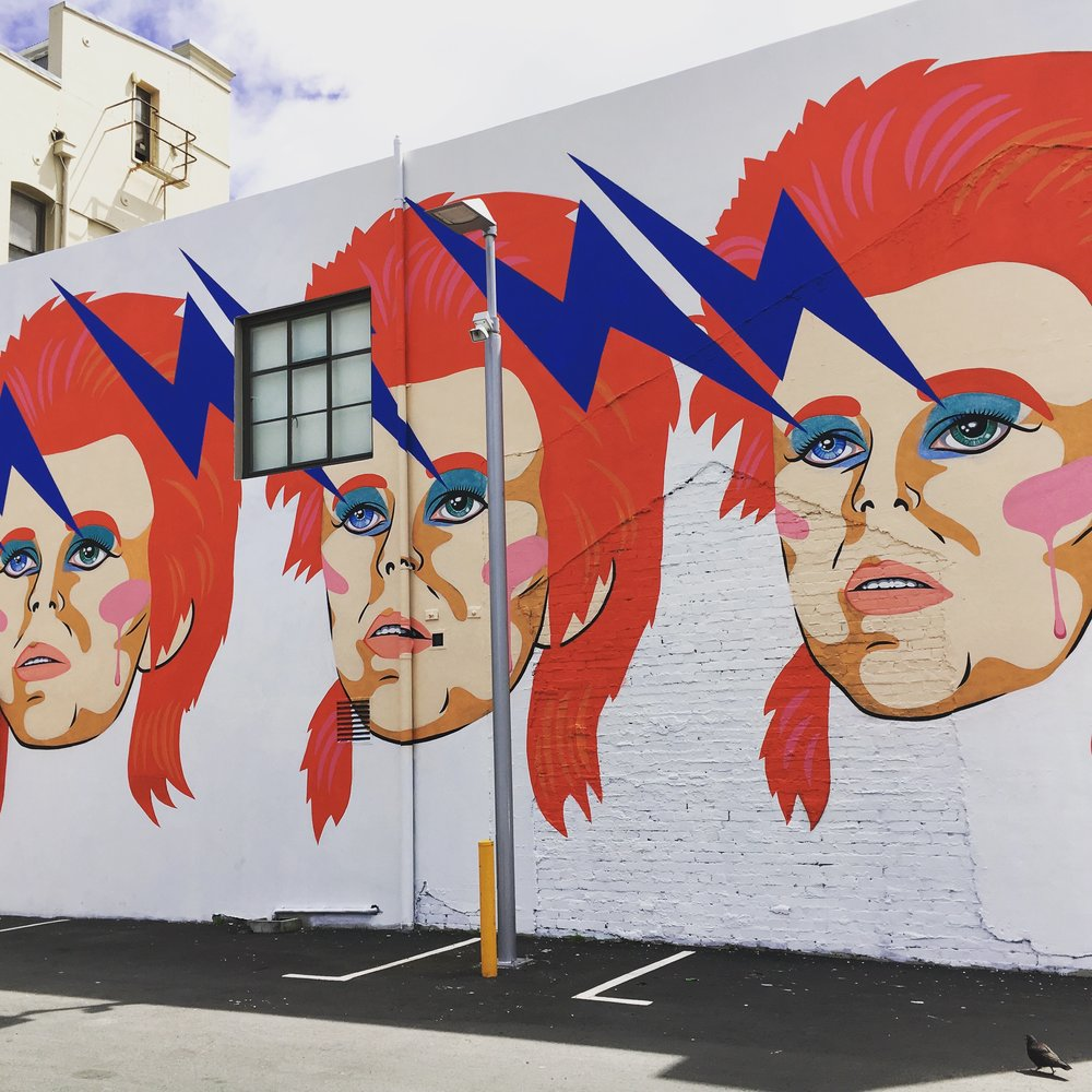 Bowie love on the streets of Wellington.