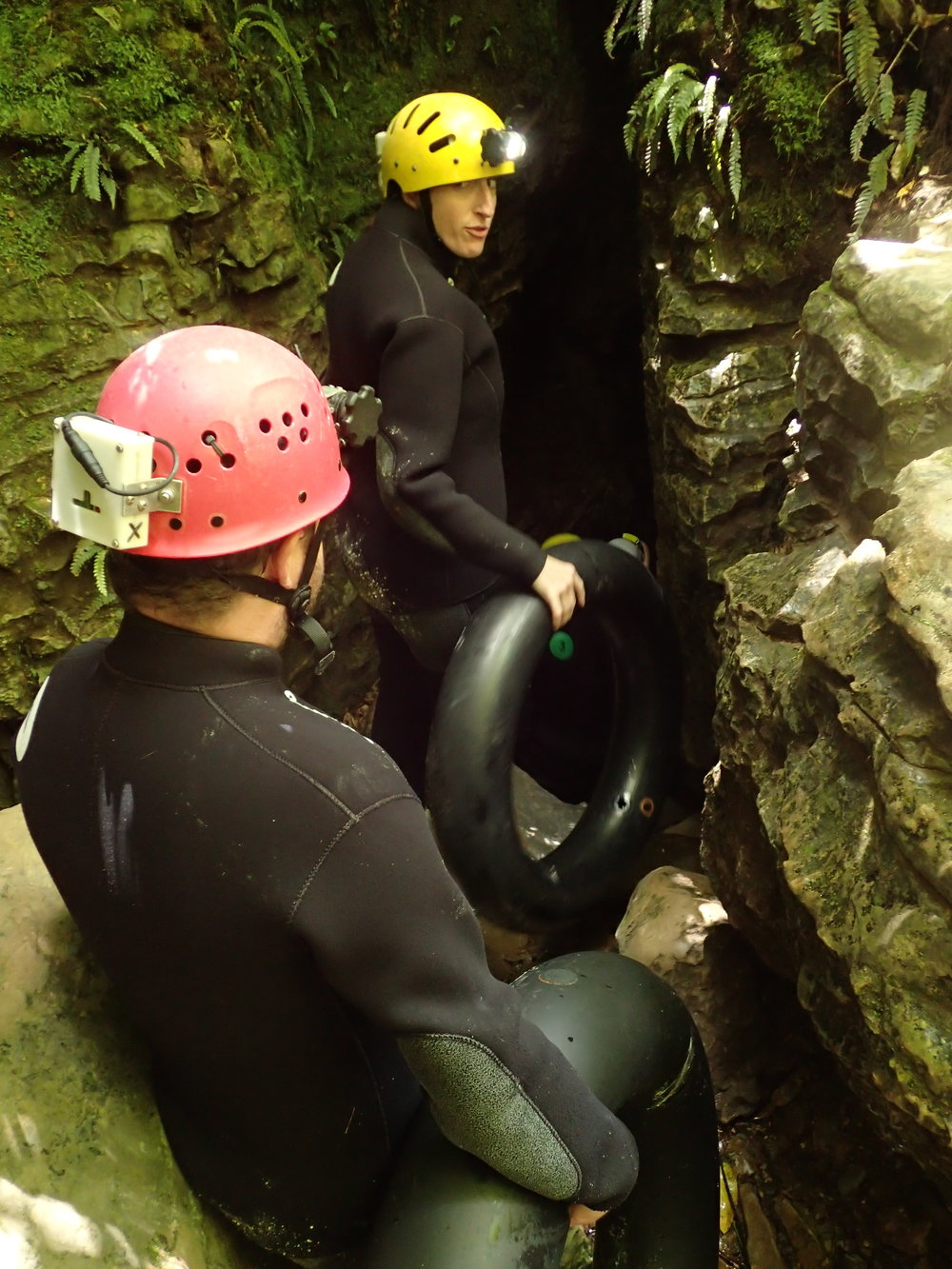 "Entering the cave - I think I was telling Jack ""don't try to scare me or I'll destroy you."""