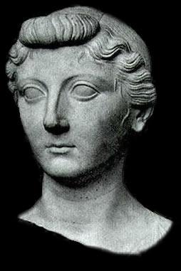 Un busto de Livia Drusila, esposa de Cayo Octaviano (el emperador César Augusto).