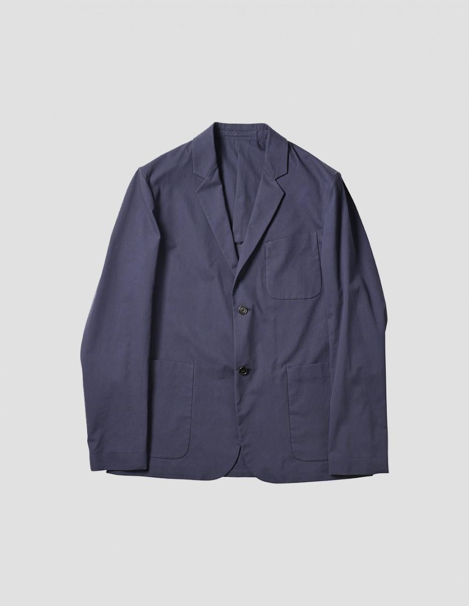 BOYS BLAZER - Matt Cotton Twill, Navy,  Mens Slim Cut Jacket