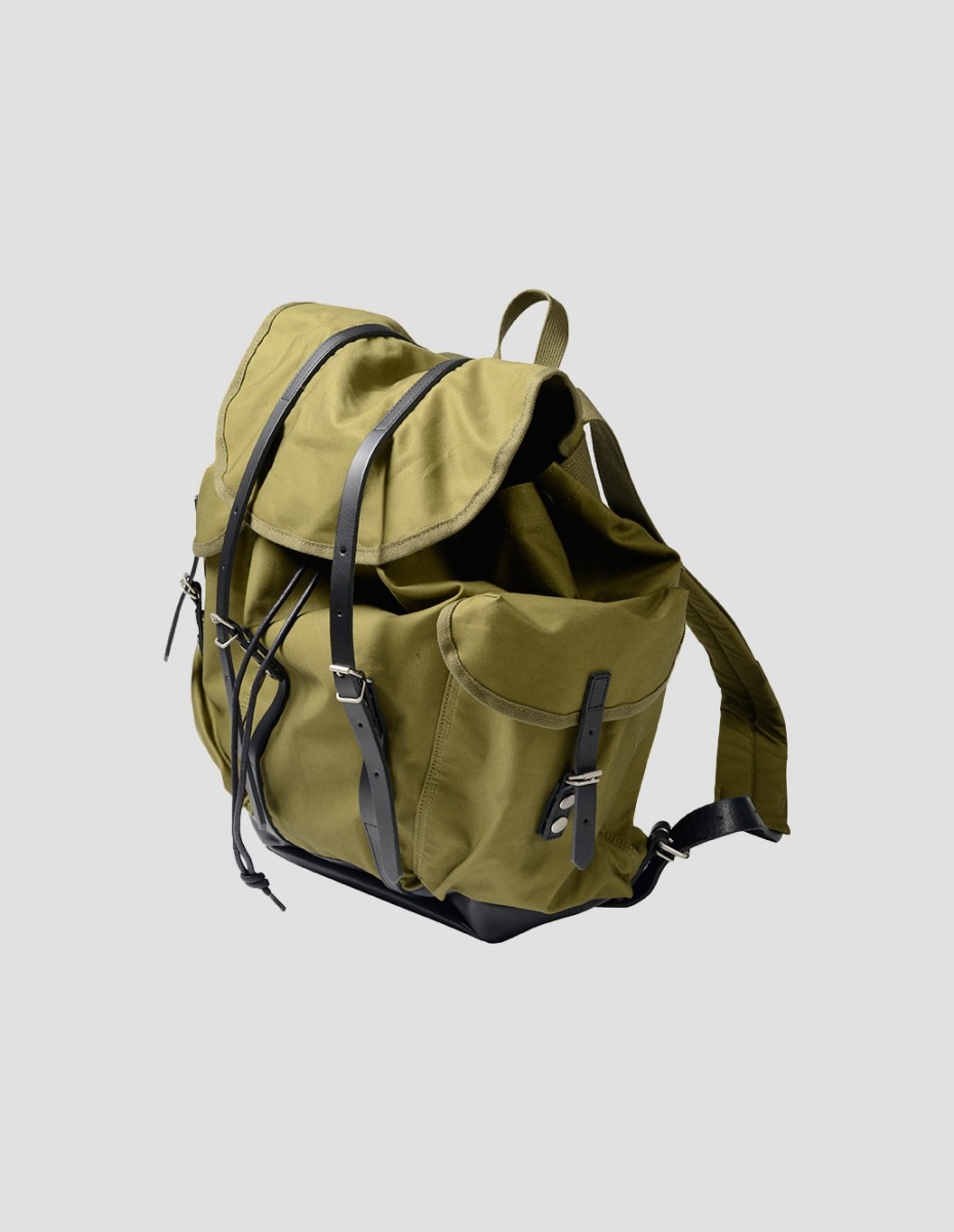 SURPLUS BACKPACK - Japanese Ventile Khaki,  Made by Porter Exclusively For Margaret Howell