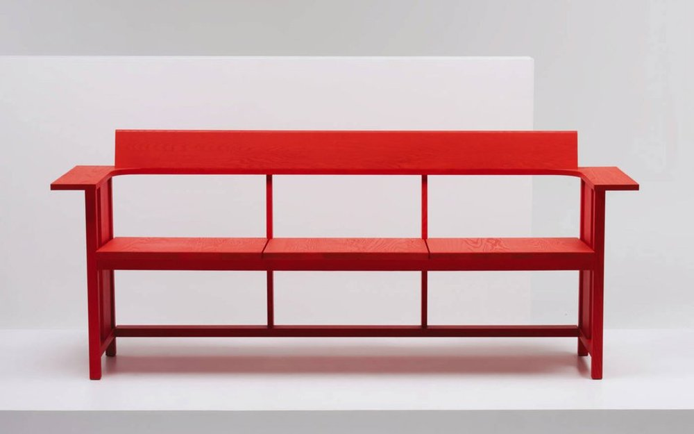 Clerici bench, Konstantin Grcic, Mattiatzzi - The Clerici three seat bench was designed by Konstantin Grcic for Italian furniture brand Mattiazzi as a progression from Gric's Medici range.