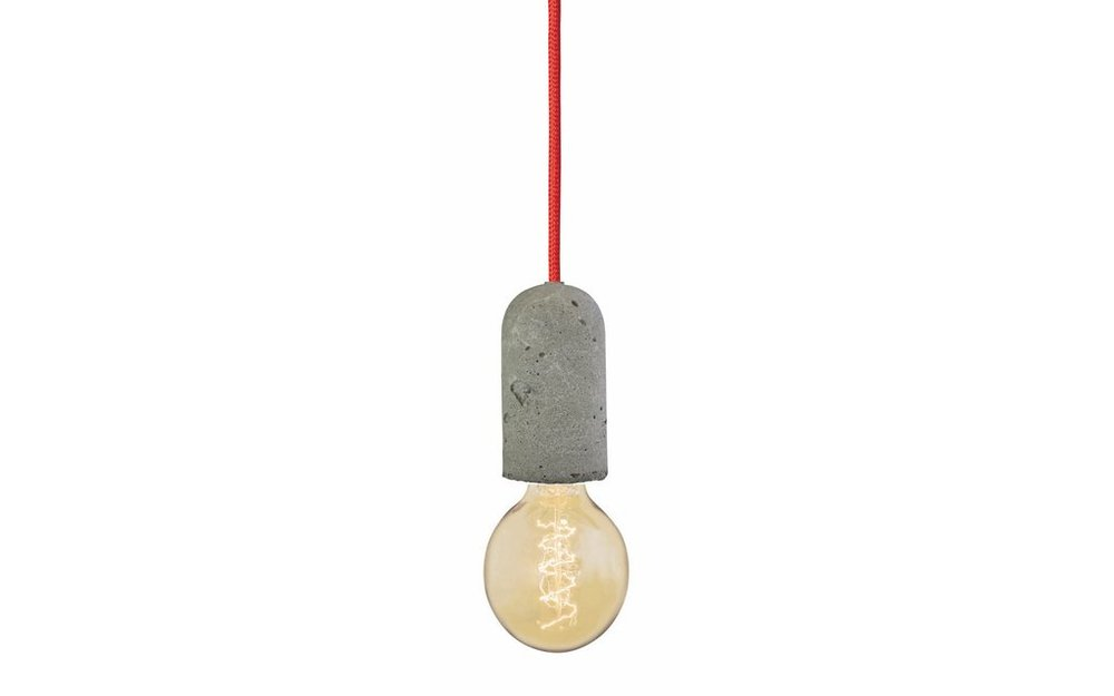 NUD concrete light fitting, NUD - A simple rough concrete bulb holder to add an industrial edge.