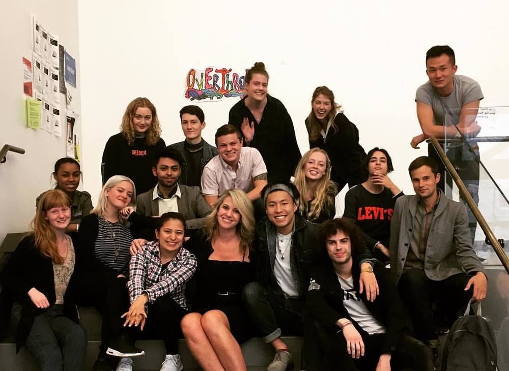 Sarah Hasted with her students from Parsons, 2016