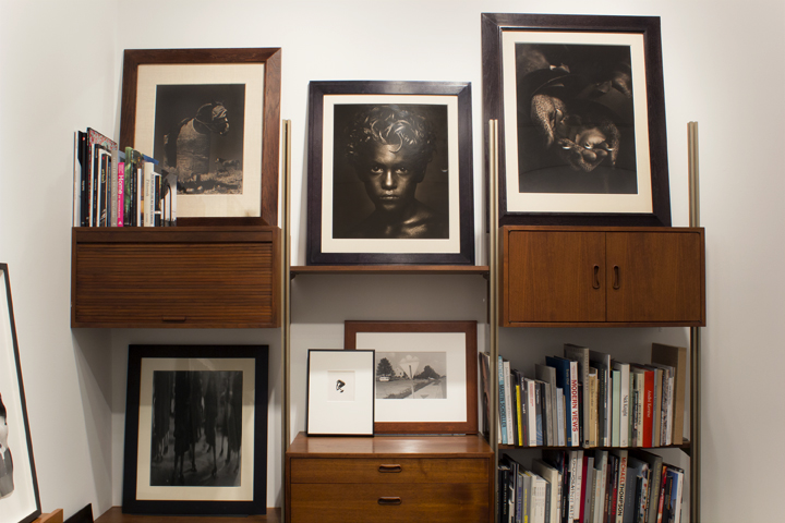 Office Installation with vintage photography