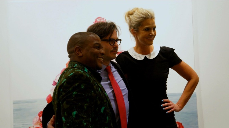Sarah Hasted and painter Kehinde Wiley