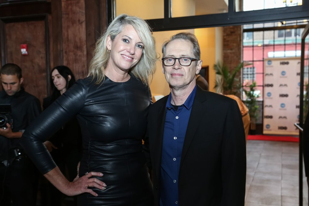 Art Advisor, Sarah Hasted and Actor, Steve Buscemi at Moving Mountains Benefit 2017