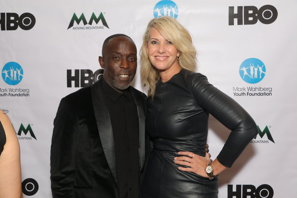 Art Advisor Sarah Hasted and Actor Michael K. Williams