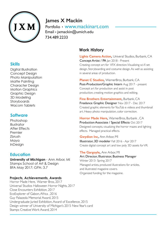 About/Resume — James X. Mackin