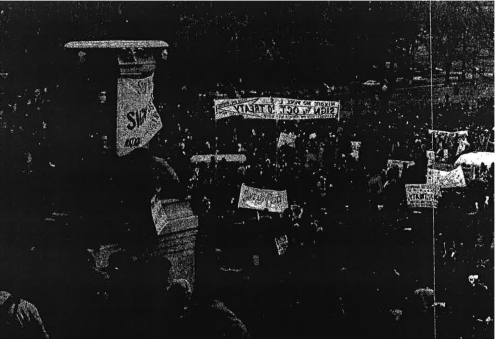 Protest at Richard Nixon's Second Presidential Inauguration, Januart 20, 1973