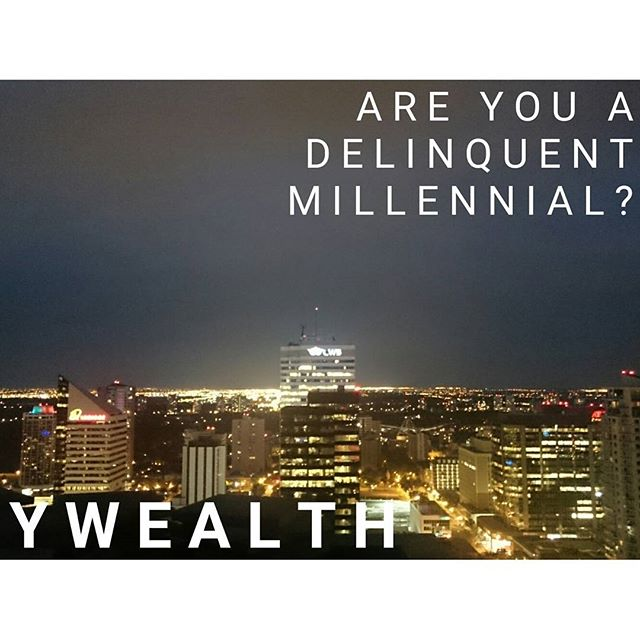 Level 6 - Are You A Delinquent Millennial? #throwback to my fifth #article! How is debt taking over our generation and how can afford it?  Visit ywealth.ca for the full article!  #personalfinance #financialfreedom #wealthbuilding #money #cash #invest #savingmoney #savings #goals #debt #millennials #geny #ywealth #financialgoals #earlyretirement #saving #tbt #Thursday #throwbackthursday #skyline #Edmonton #Canada #lights #city #citylights