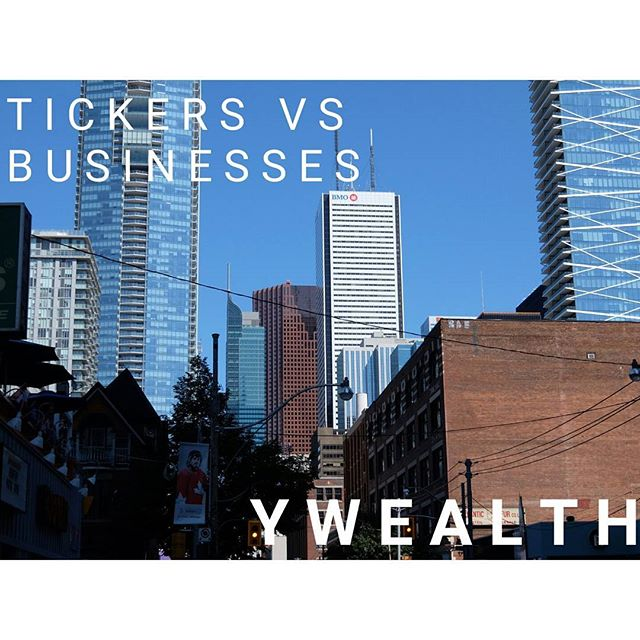 """Level 23 - Tickers vs. Businesses What are you really getting when you submit a """"Buy"""" order on your discount brokerage for a handful of capital letters?  Visit ywealth.ca for the full article!  #personalfinance #financialfreedom #wealthbuilding #money#invest#savingmoney#cash#savings #goals#earlyretirement#financialgoals#tickers #business #businesses #stocks #symbol #symbols"""
