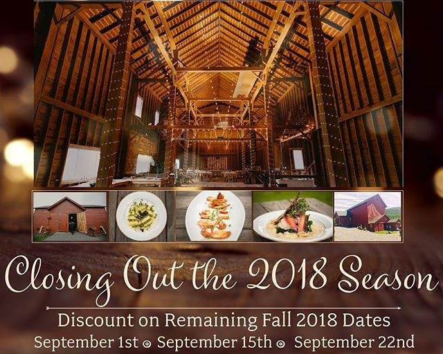 We're throwing in some bonuses and a massive discount for the remaining Fall 2018 dates! 💌: info@headwatersbarn.com . . . . #wedding #discount #barn #barnwedding #weddingvenue #weddingreception #weddingceremony #weddingcatering #weddingdress #weddingideas #weddinglighting #savethedate #shesaidyes #hesaidyes #weddingcouple #weddinglighting #weddinginspiration