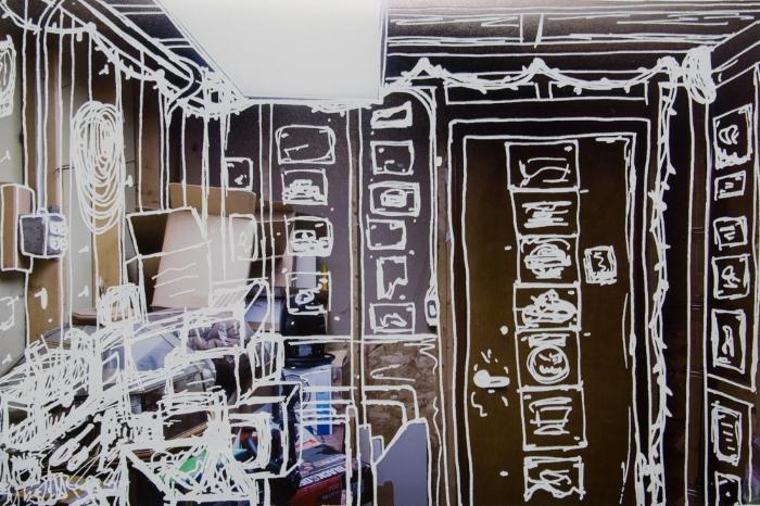 Garage Wall, 2015, silkscreen print on archival inkjet photograph