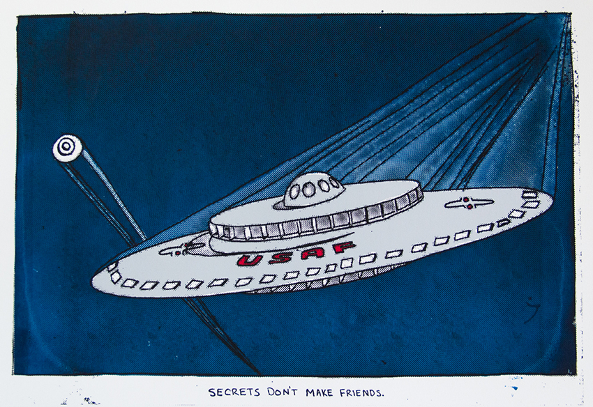 USAF Project 1794, 2014, (11x16) 4 color silkscreen print