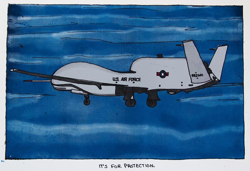 USAF UAV, 2015, (11x16) silkscreen print