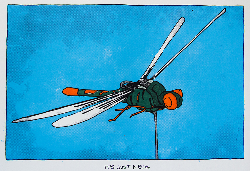 Project Insectothopter, 2015, (11x16) silkscreen print