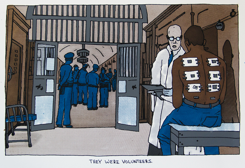 Statesville Penitentiary Malaria Experiment, 2015, (11x16) silkscreen print