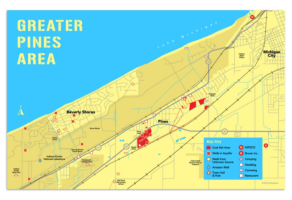 Greater Pines Area Map