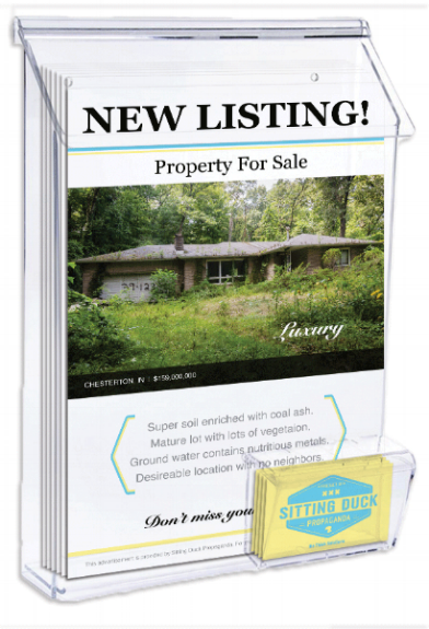 Realtor Advertisement Flyer & Business Card Display